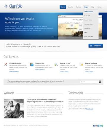 Blueline wordpress theme