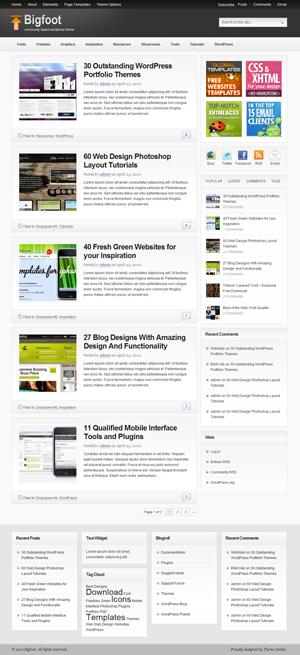 bigfoot wordpress theme