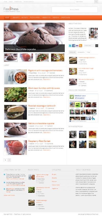 FoodPress A Recipe & Food Blog WordPress Theme