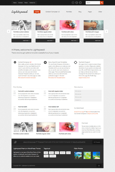 Lightspeed Powerful WordPress Theme