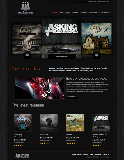 MediaScene Music Premium WordPress Theme