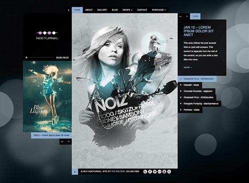 Nocturnal Premier Audio WP Theme