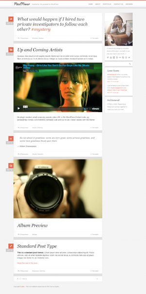 PixelPower WordPress Theme