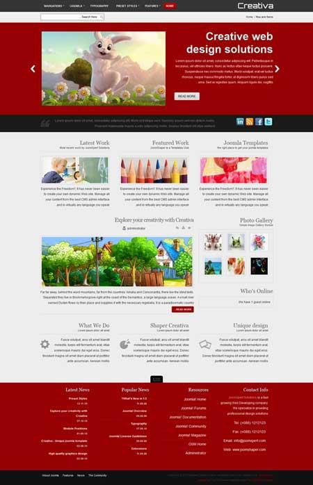 Shaper Creativa joomla template