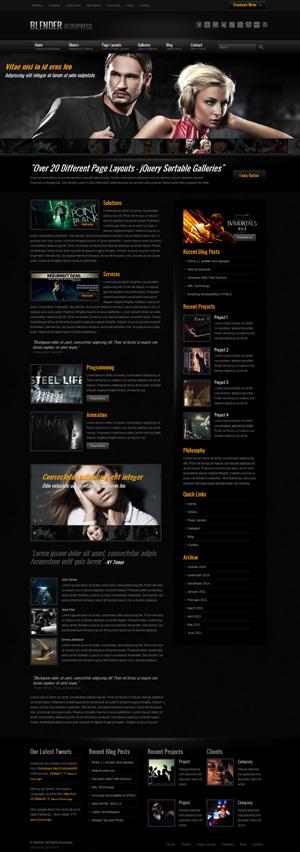 Blender wordpress theme