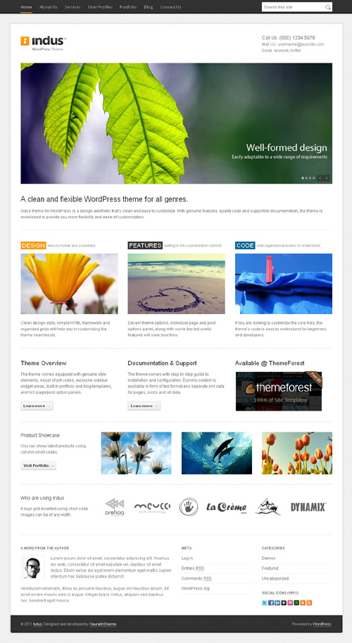 Indus WordPress Theme