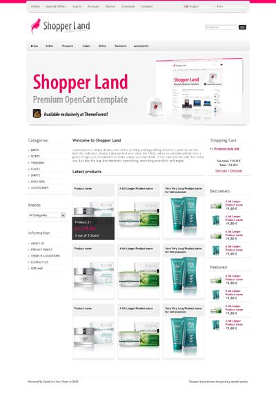 Shopper Land opencart theme
