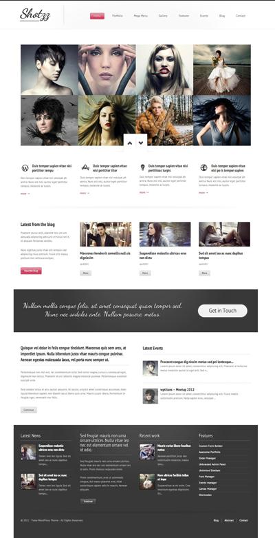 Shotzz - Premium WordPress Theme