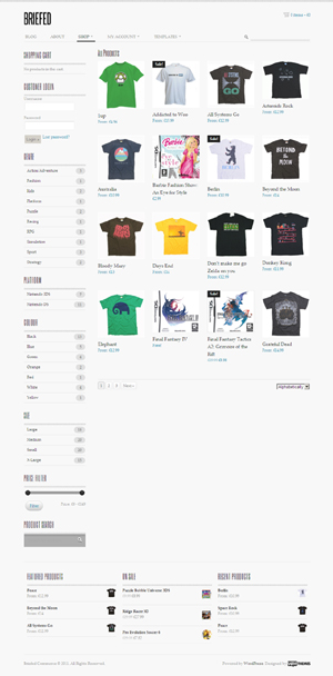 Briefed Commerce wp theme