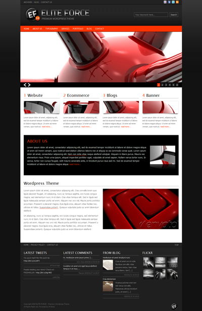 ELITE FORCE Premium WordPress Theme