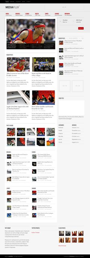 MediaFlux Magazine WordPress Theme