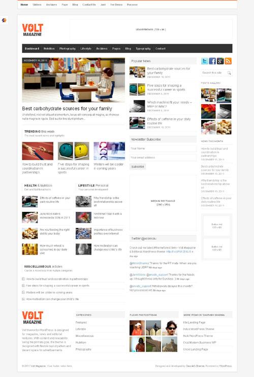 wordpress page模板