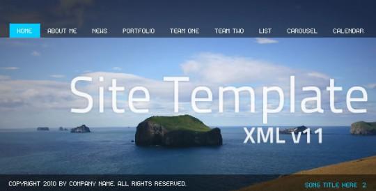 Flash Site Template XML v11