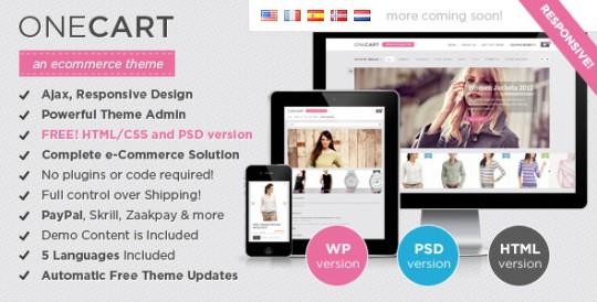 OneCart - Ajax Responsive E-Commerce WordPress Theme