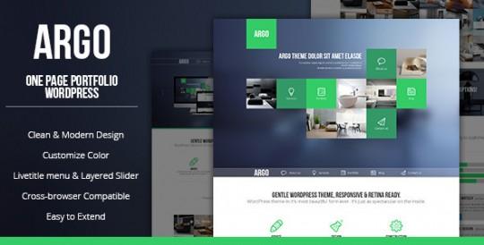 Argo - Modern OnePage Metro UI WordPress Theme