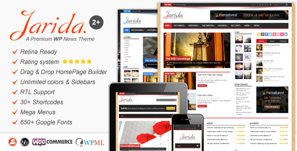 Jarida - Responsive WordPress News, Magazine, Blog