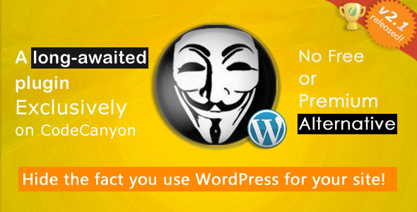Hide My WP - No one can know you use WordPress