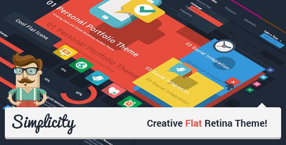Simplicity - Creative Flat Retina Theme