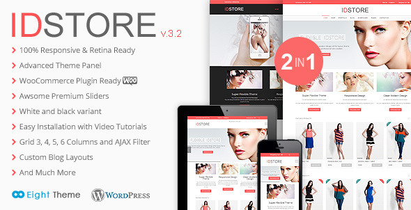 Idstore responsive multi purpose ecommerce theme v45 weidea idstore responsive multi purpose ecommerce theme is a professionally developed high quality functional template for developing sites in wordpress maxwellsz