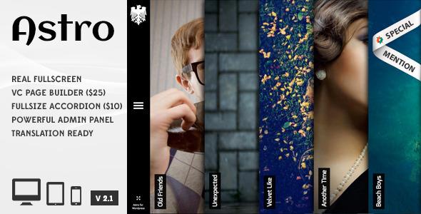 Astro - Showcase Photography Wordpress Theme