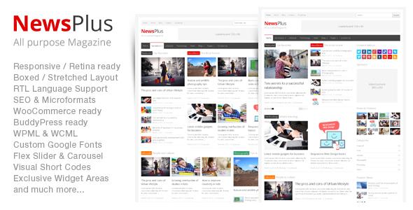NewsPlus - Magazine Editorial WordPress Theme