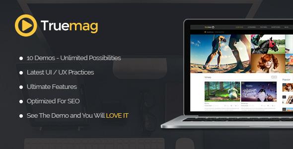wordpress True Mag视频网站主题下载