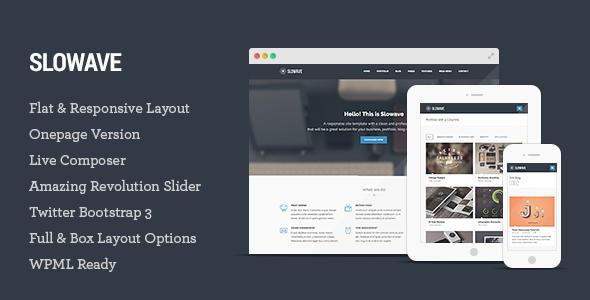Slowave - Multipurpose Responsive WordPress Theme
