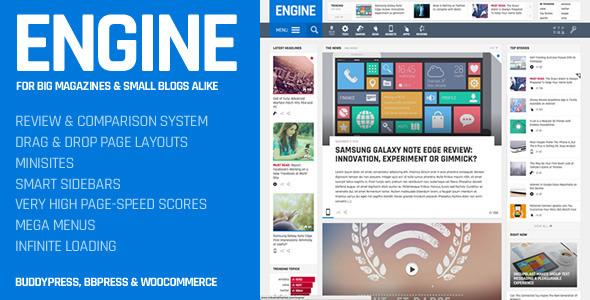 WordPress杂志博客主题Engine