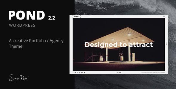 Pond v2.2 - Creative Portfolio Agency WordPress Theme
