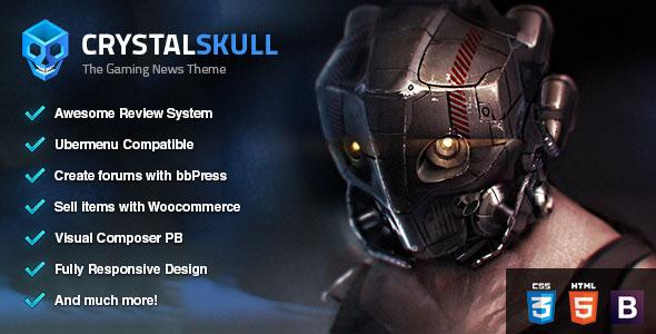 CrystalSkull v1.1 - Gaming Magazine WordPress Theme
