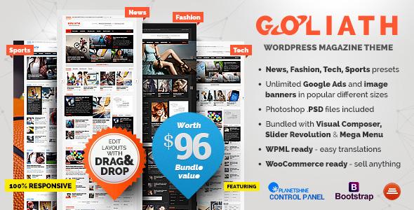 GOLIATH v1.0.23 - Ads Optimized News & Reviews Magazine