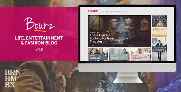 Bourz v1.5 - Life, Entertainment & Fashion Blog Theme