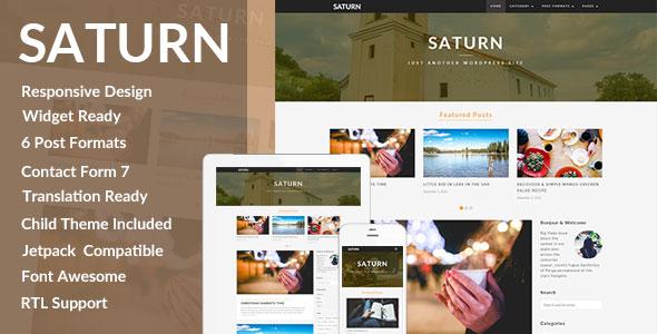 SATURN - A Personal Travel Wordpress Blog Theme