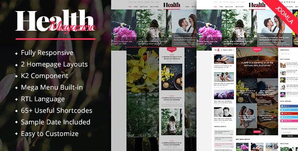 HealthMag - Multipurpose News Magazine Joomla Template