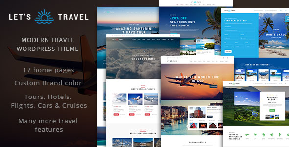 Let's Travel v1.0.3 - Complete Travel Booking Theme