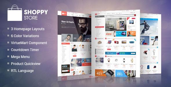 ShoppyStore - Responsive VirtueMart 3 Template