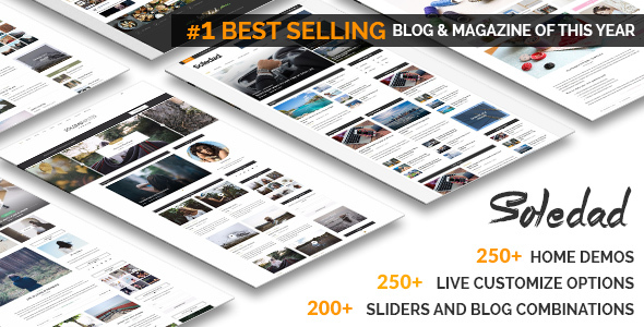 Soledad v2.5- Multi-Concept Blog Magazine WP Theme