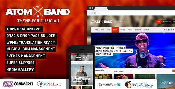 AtomBand v1.4 - Responsive Dj Events & Music Theme
