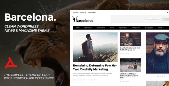 Barcelona v1.3.1 - Clean News & Magazine WordPress Theme