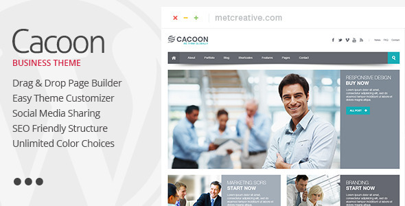 Cacoon v3.0.3 - Responsive Business WordPress Theme