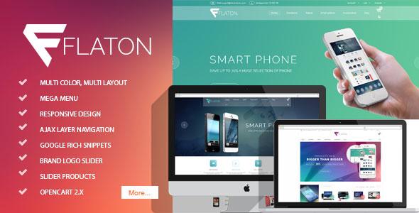 Flaton - Responsive OpenCart Digital Theme