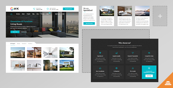 Hnk - Business and Architecture WordPress Theme