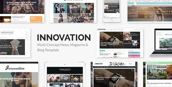 INNOVATION v2.1 - Multi-Concept News, Magazine & Blog Template