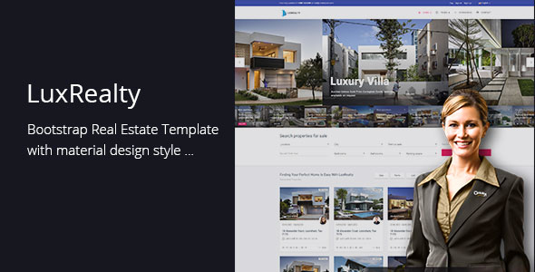 Lux Realty - Real Estate, Property Material Design