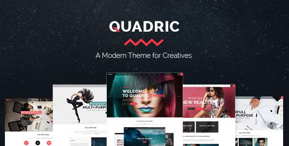 Quadric v1.2.1 - A Modern Theme for Creatives