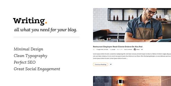 Writing v2.7.5 - Clean & Minimal Blog WordPress Theme