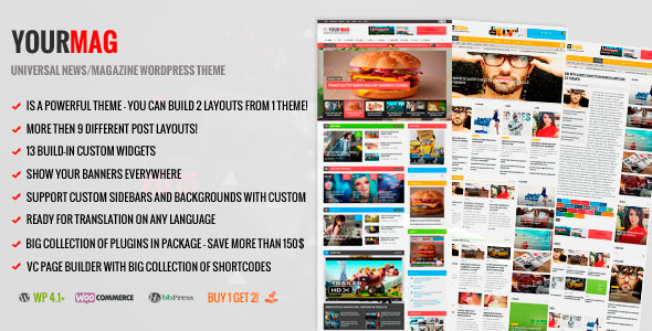 YourMag v1.6.1 - Universal WordPress News Magazine Theme