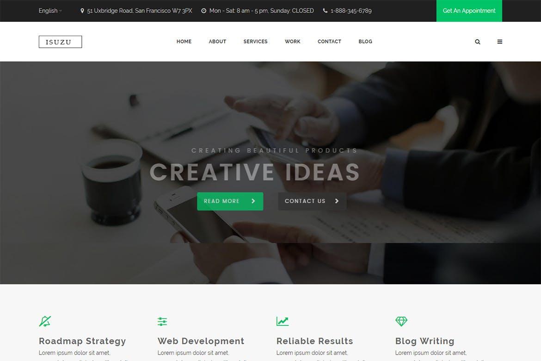 Isuzu – Creative HTML Template – weidea