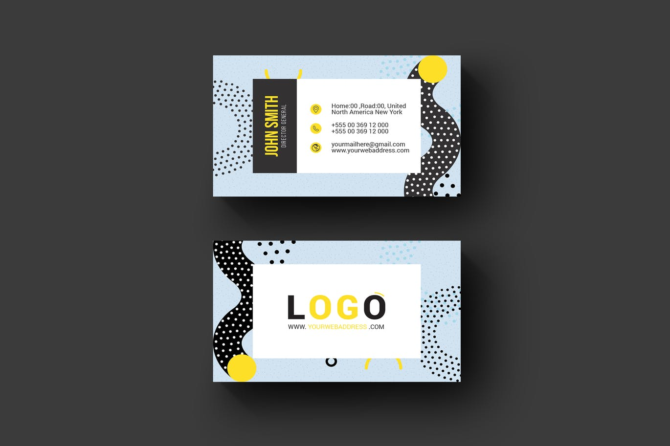 Memphis business card weidea a beautiful professional well decorated multipurpose business card perfect for your next project and any brand identity colourmoves