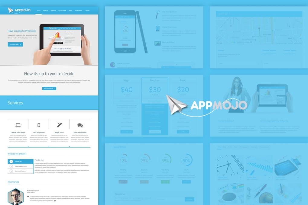App Mojo – Single Page Software Promotion HTML   weidea